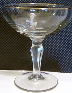 Babycham Original Glasses - Balustrade Stem - 2 ONLY REMAINING- SOLD